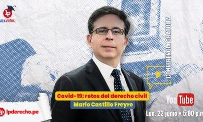 Conferencia: retos del derecho civil ante la covid-19, por Mario Castillo Freyre