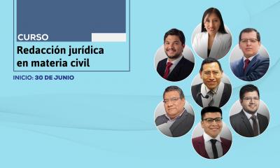 Curso de redacción jurídica en materia civil. Inicio: 30 de junio